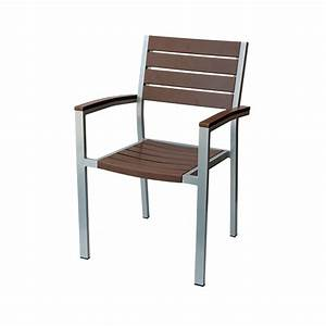 Chaise Bois Exterieur : chaise ext rieur en lattes de bois synth tique gris d cors v ronneau ~ Teatrodelosmanantiales.com Idées de Décoration