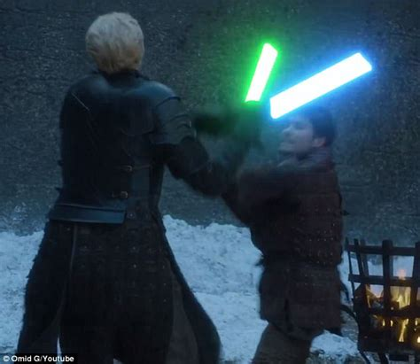 game  thrones turns  star wars  lightsaber duel