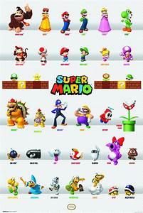 Super Mario Bros Characters poster. | Cool Random Pics ...
