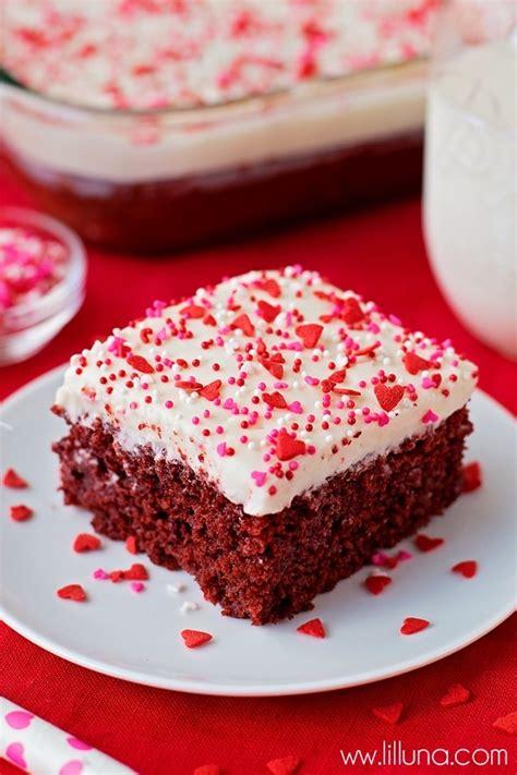red velvet poke cake  homemade cream cheese frosting