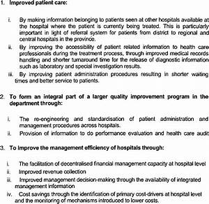 Objectives Of The Hospital Information System