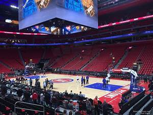 Detroit Pistons Seating Chart With Seat Numbers Little Caesars Arena Section 118 Detroit Pistons