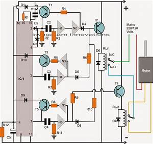 Washing Machine Agitator Timer Circuit Schematic