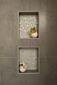Mosaik Fliesen Anthrazit : dusche nische fliesen anthrazit mit mosaik metallic effekt veredelt mosaik outfit ~ Orissabook.com Haus und Dekorationen