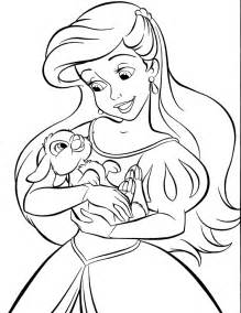 princess ariel coloring pages online gallery