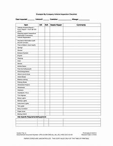 vehicle inspection checklist template car maintenance With vehicle service checklist template