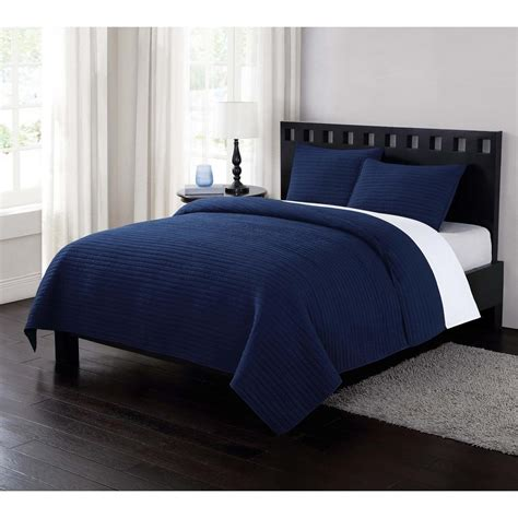 Navy Blue Bedspreads And Coverlets by Fog Garment Washed Crinkle Navy Blue Xl Quilt