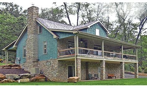 lake house plans lakefront house plans  walkout basement house plans lakefront treesranchcom