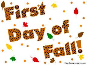 2015 First Day of Fall Clip Art