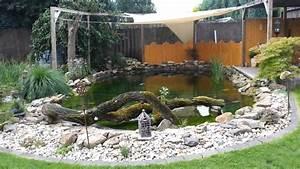 Garten Mit Teich : unser garten mit teich im sommer youtube ~ Buech-reservation.com Haus und Dekorationen