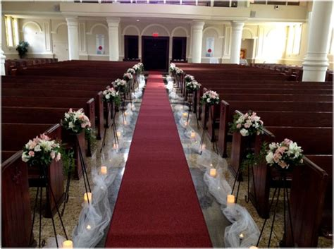 flower stands  wedding aisle project