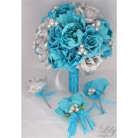 turquoise and silver decorations turquoise silver wedding ideas pinterest