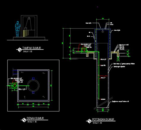 water  pumping dwg detail  autocad designs cad