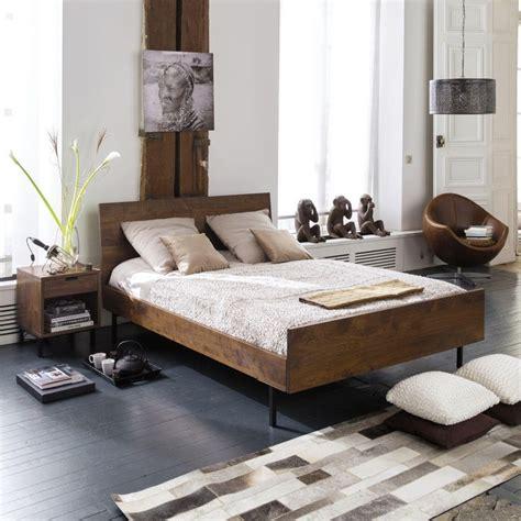 elegant chevet bois de noyer berkley maisons du monde  maison du monde le mans