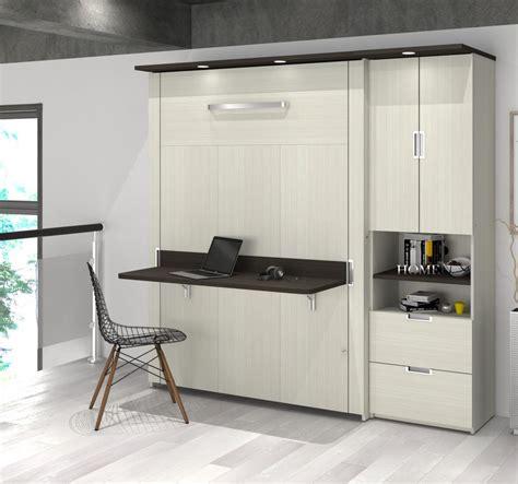 lit escamotable 2 places lit escamotable avec bureau et 1 unit 233 de rangement avec tiroirs et portes