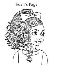 edens page natural hair coloring books coloring pages