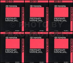 2010 Toyota Sequoia Repair Manual 6 Volume Set Original Oem Repair Service Books