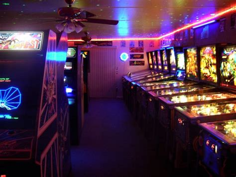 Huge Home Arcade Game Room A Recreation Of The 80s