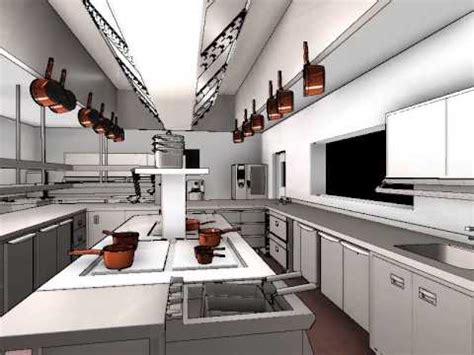 commercial kitchen design  animation youtube