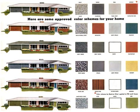 modern exterior paint colors for houses mid century ranch house colors and color