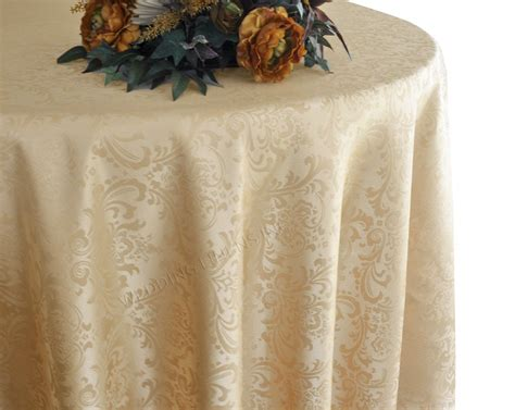 Jacquard Tischdecke by 132 Inch Damask Jacquard Polyester Linens Tablecloths