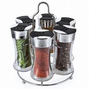 Carrousel à épices : carrousel pices 6 pots en verre art de la table cuisine ~ Teatrodelosmanantiales.com Idées de Décoration