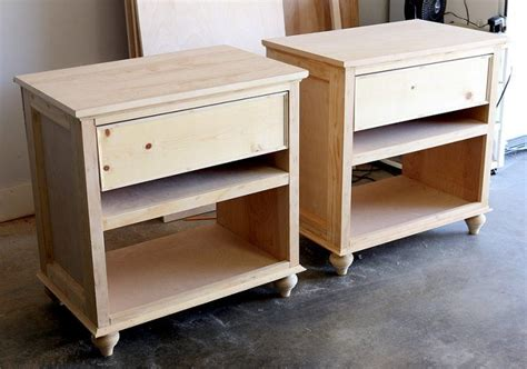 build diy nightstand bedside tables diy