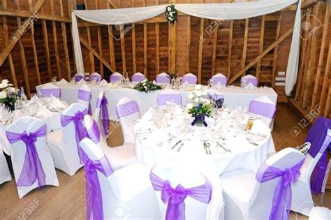 Purple Party Table Decorations White And