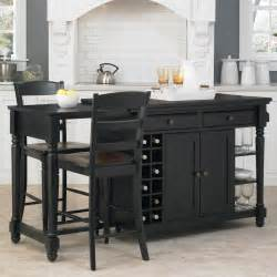 black kitchen island with seating home styles grand torino 3 kitchen island stools set kitchen islands and carts at