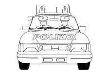 Ausmalbilder Polizei Poizeiauto Krankenwagen