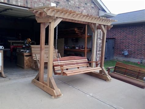 porch swing with stand stand alone porch swing plans