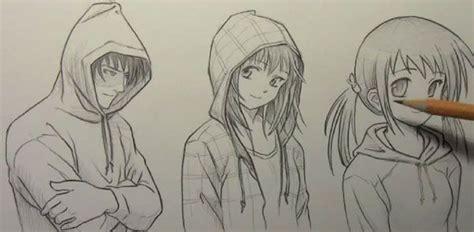 guy  hoodie drawing google search anime drawings