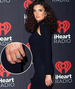 idina menzel debuts 30000 engagement ring see the With idina menzel wedding ring