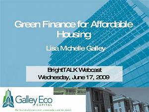 Green Finance for Affordable Housing