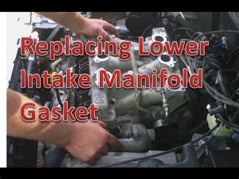 replacing chevrolet  intake manifold gasket youtube