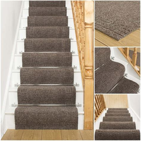 carpet runners for stairs mega brown stair carpet runner stair runner ebay