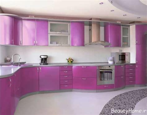 purple kitchen designs راهنمای انتخاب بهترین رنگ کابینت در آشپزخانه های مختلف 1686
