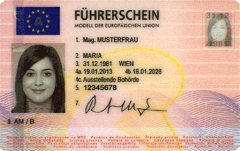 Boat Driving License Europe by F 252 Hrerscheinverlust Eidesstattliche Versicherung 252 Ber Den