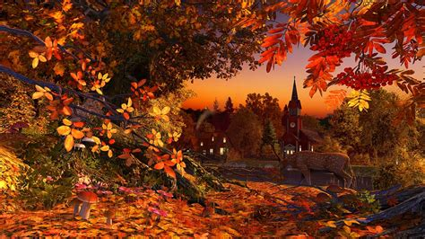 Falling Leaves Wallpaper Animated - best of 3d falling leaves animated wallpaper anime