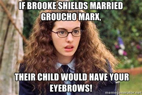 Bushy Eyebrows Meme - i don t believe in hairy eyebrows victoria easter wilson