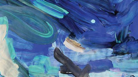dark blue painting wallpapers hd desktop  mobile
