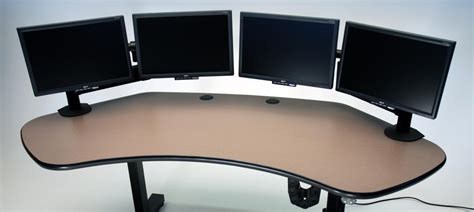 dual monitor corner desk ergo solo height adjustable corner desk martin ziegler