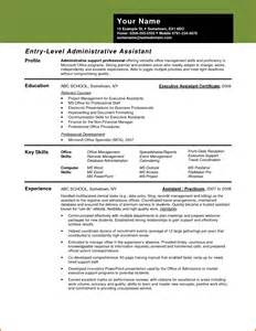 Assistant Resume Template Free by Administrative Assistant Resume Sle Administrative Assistant Resume Or Executive Assistant