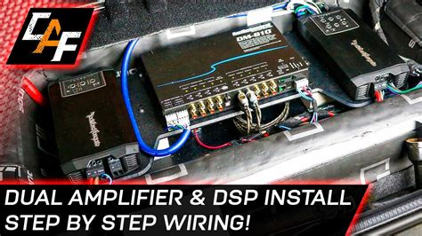 Car Audio Wiring Dual Amplifier Dsp Install Youtube