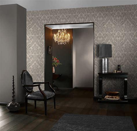 rasch tapeten florentine tapete rasch florentine uni schwarz grau 448627