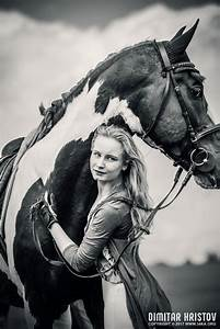 Horse And Girl  U2013 Portrait