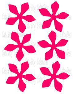 printable giant flower templates diy giant paper flowers