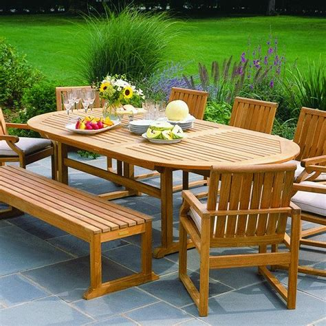 kingsley bate elegant outdoor furniture essex oval