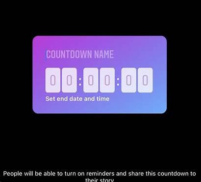 Instagram Stickers Story Countdown Sticker Stand Stories