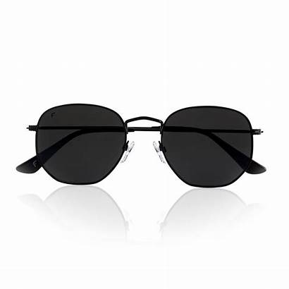 Sunglasses Hexagon Polarized Lenses Metal Frame Pink